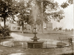 Original 1889 Fountain. (See the original Chester County Hospital in the background?)