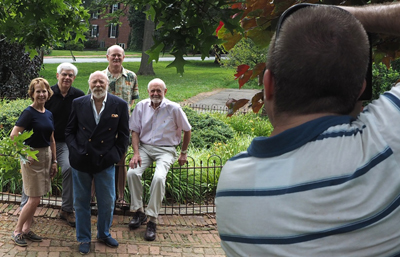 l to r: Anne Walters, Jim Salvas, Gordon Woodrow, Jeff Beitel, Mr. Gene Gagliardi, and Photographer Michael Miville