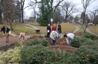 Fountain Dig: Anne Walters, Allan Steenhusen, and Jeff Beitel (experts in landscaping, historic preservation, and architecture) discuss unearththing the fountain's underpinnings.