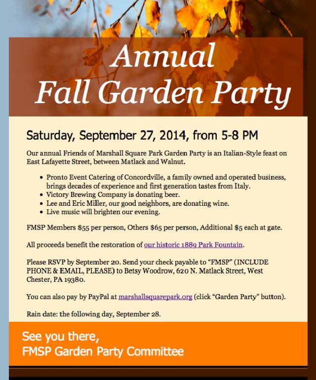 2014 Fall Garden Party