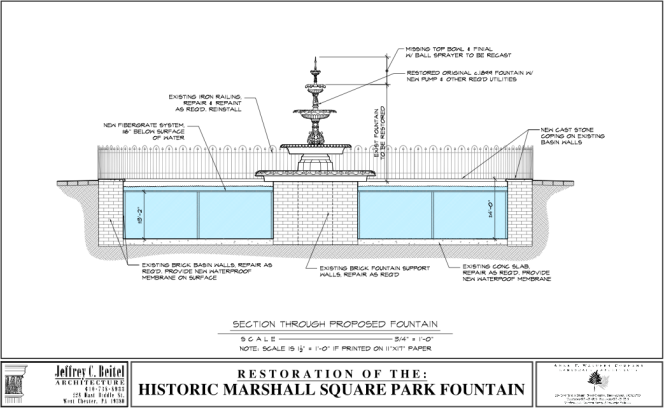 Section Through Proposed Fountain